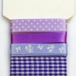 Wstążki dekoracyjne - komplet fioletowy