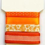 Wstążki dekoracyjne - komplet pomarańczowy