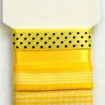 Wstążki dekoracyjne - komplet żółty