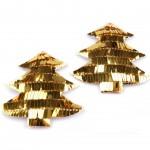 Choinki z cekinami złote