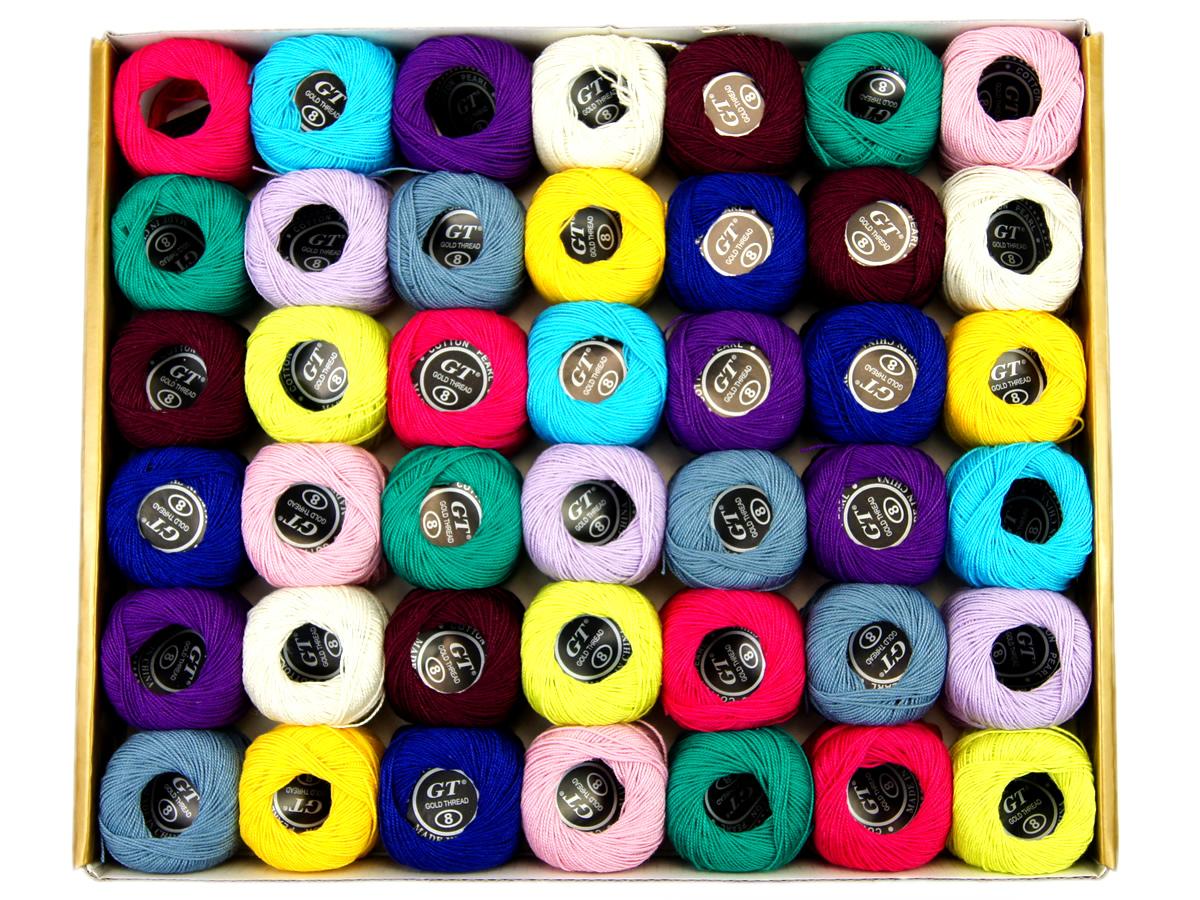 Kordonki bawełniane - zestaw 42 kolory