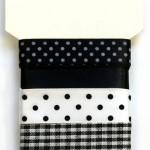 Wstążki dekoracyjne - komplet czarny