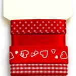 Wstążki dekoracyjne - komplet czerwony